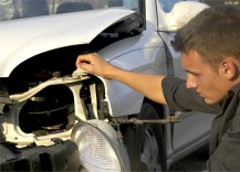 Insurance Adjuster Evaluating Claim